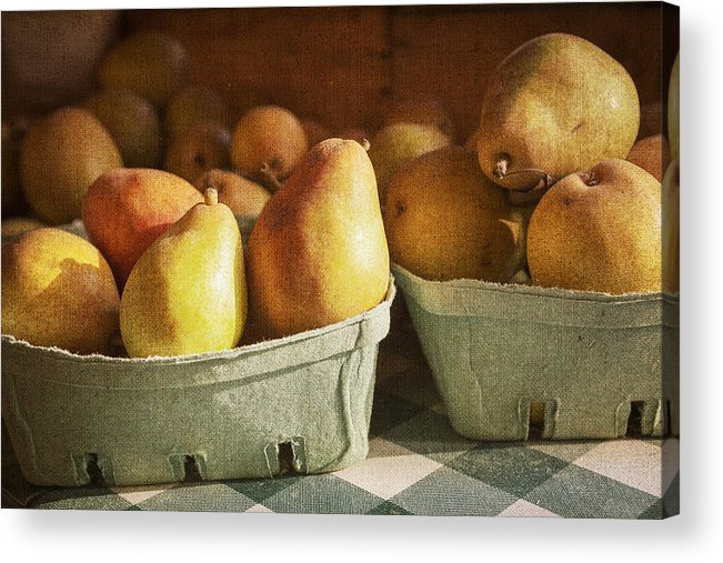 Pear Acrylic Print featuring the photograph Pears by Caitlyn Grasso