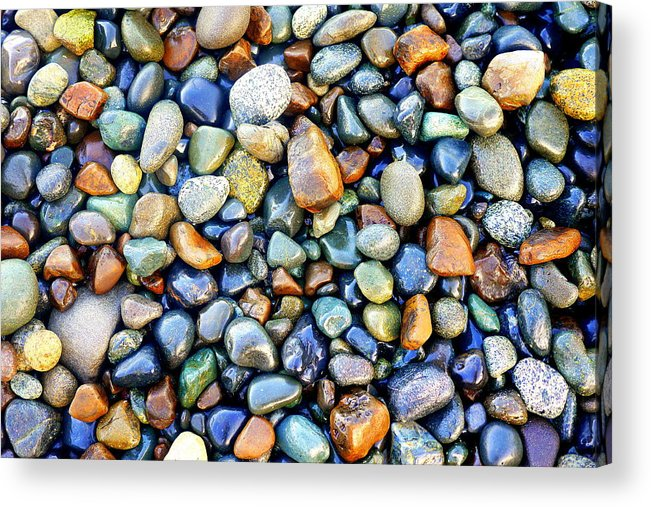 Multi-colored Hues Acrylic Print featuring the photograph Pebbles Galore by Tom Gilligan