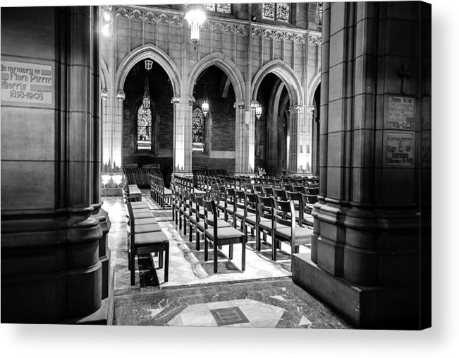 Black And White Acrylic Print featuring the photograph Peeking In by Niecy Love