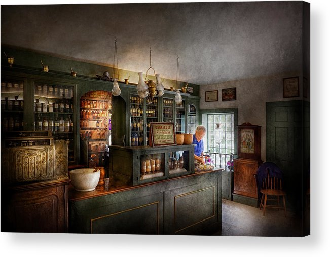 Doctor Acrylic Print featuring the photograph Pharmacy - Morning Preparations by Mike Savad