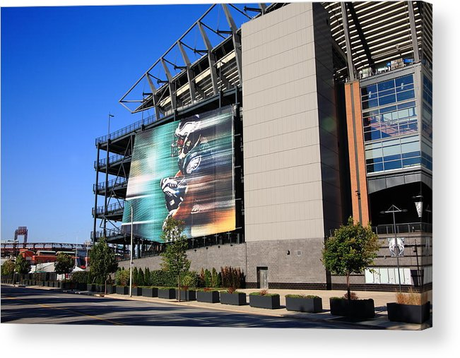 America Acrylic Print featuring the photograph Philadelphia Eagles - Lincoln Financial Field by Frank Romeo