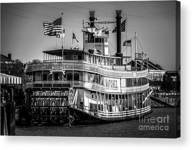 America Acrylic Print featuring the photograph Picture Of Natchez Steamboat In New Orleans by Paul Velgos