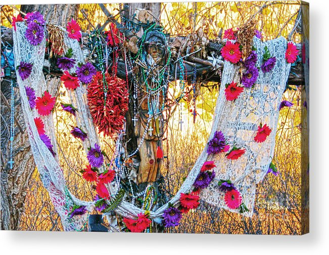 Chimayo Acrylic Print featuring the photograph Pilgrimage Shrine by Roselynne Broussard