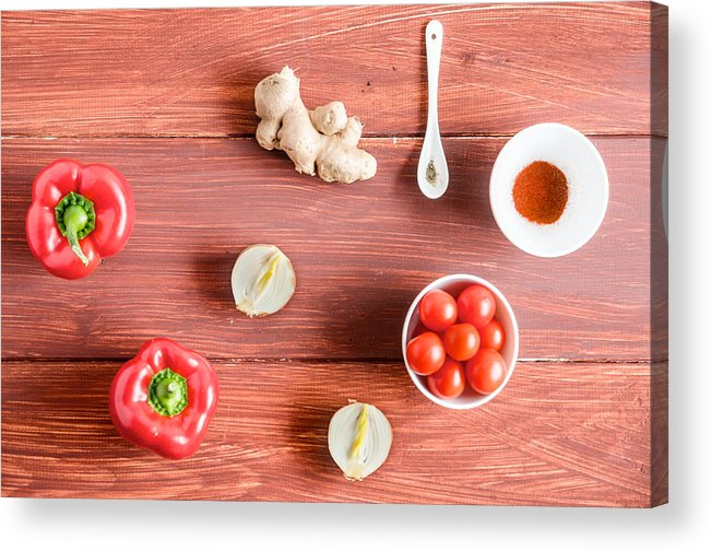 Cibo Acrylic Print featuring the photograph Pimiento Magic by Maurizio Incurvati