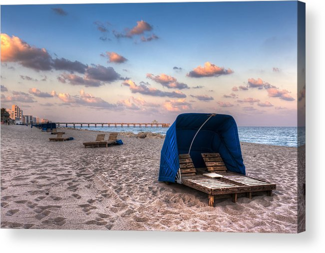 Deerfield Acrylic Print featuring the photograph Pink Sands by Debra and Dave Vanderlaan