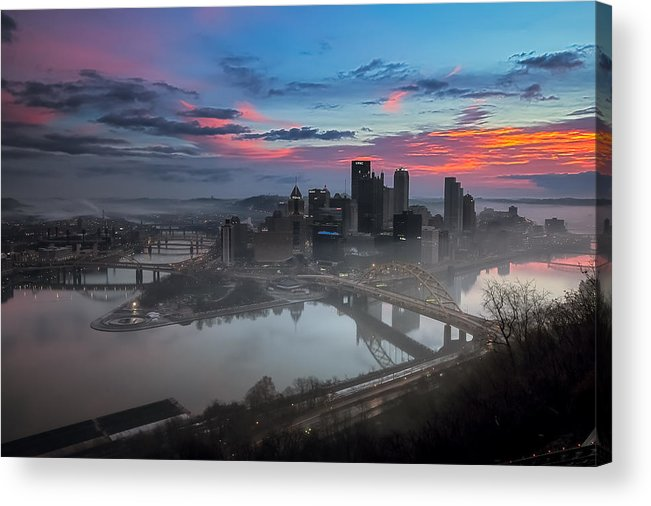 Pittsburgh Acrylic Print featuring the photograph Pittsburgh January Thaw by Jennifer Grover