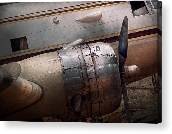 Plane Acrylic Print featuring the photograph Plane - A Little Rough Around The Edges by Mike Savad