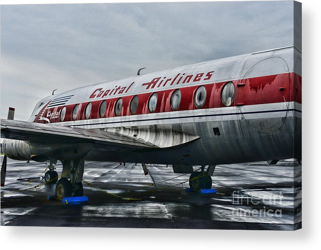 Paul Ward Acrylic Print featuring the photograph Plane Obsolete Capital Airlines by Paul Ward