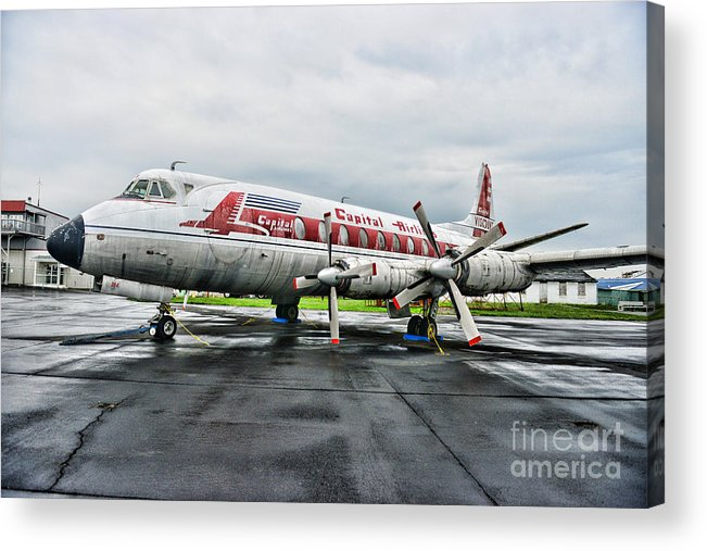 Paul Ward Acrylic Print featuring the photograph Plane Props On Capital Airlines by Paul Ward
