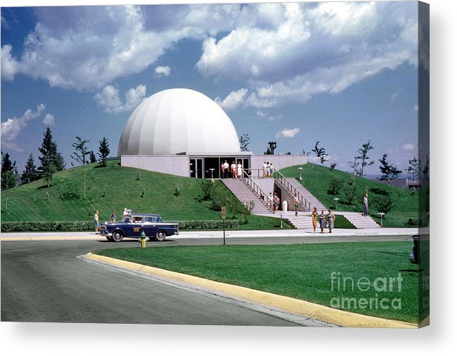 Planetarium At U.s. Air Force Academy Acrylic Print featuring the photograph U.s. Air Force Academy Planetarium At Colorado Springs 1961 by Wernher Krutein