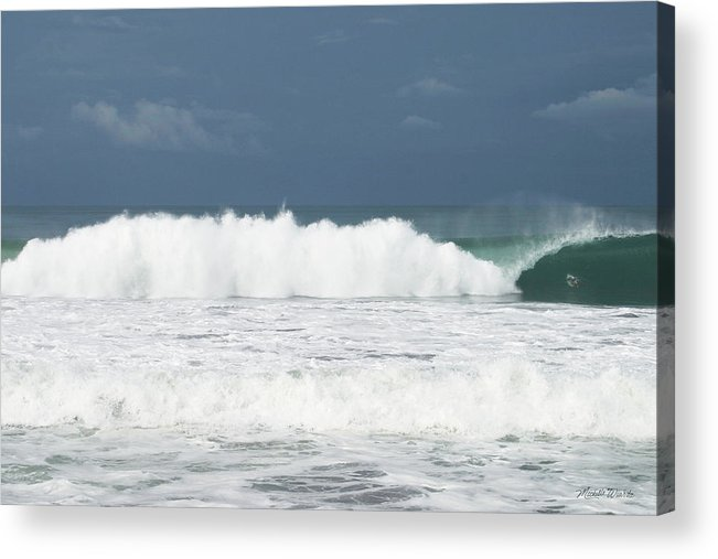 Sky Acrylic Print featuring the photograph Playa Hermosa Wave Number Three Central Pacific Coast Costa Rica by Michelle Constantine