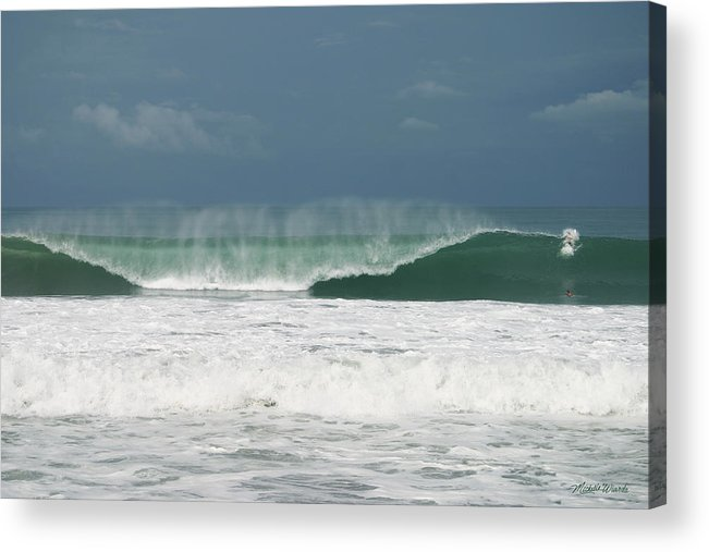 Sky Acrylic Print featuring the photograph Playa Hermosa Wave Number Two Central Pacific Coast Costa Rica by Michelle Constantine