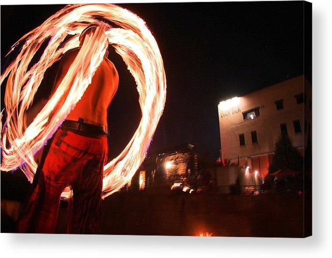 Fire Acrylic Print featuring the photograph Poi On Boat by Anthony Delgros
