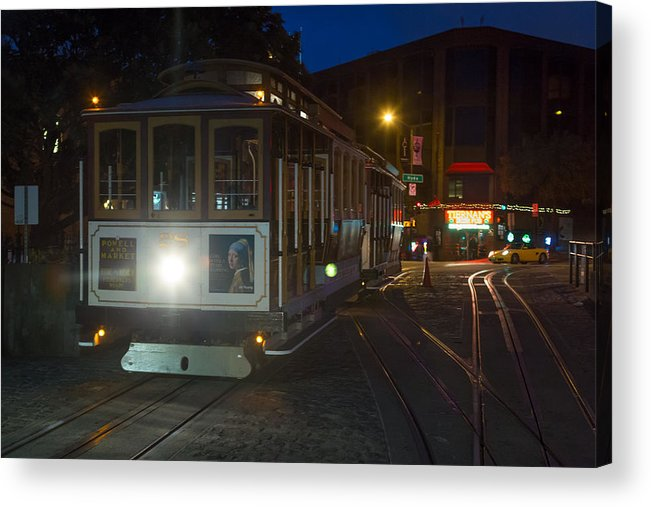 Cable Car Acrylic Print featuring the photograph Powell And Market Trolley by Larry Fry