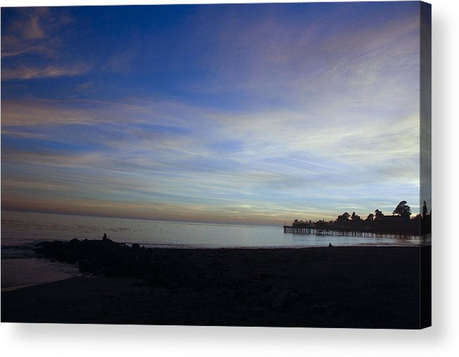 Lsunset Acrylic Print featuring the photograph pr 243- Sunset Over Capitola Pier by Chris Berry