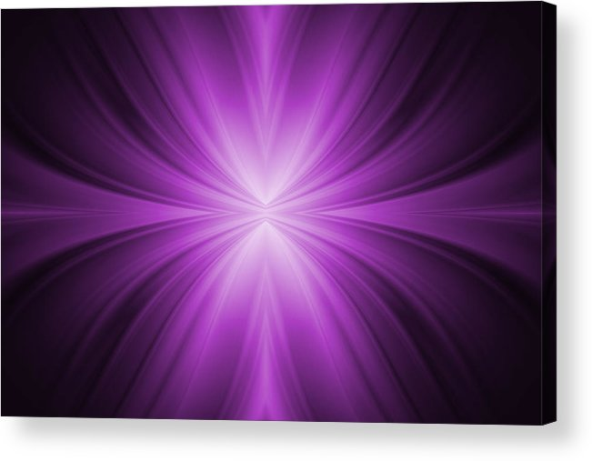 Abstract Acrylic Print featuring the tapestry - textile Purple Abstract Background by Somkiet Chanumporn