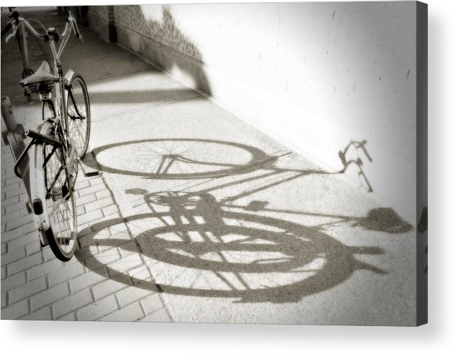 Shadow Acrylic Print featuring the photograph Queen St. Bicycle by Peter Simon
