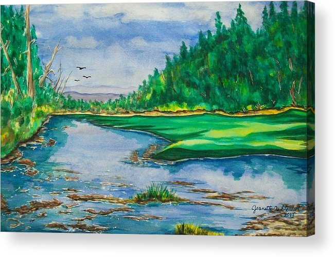 Landscape Acrylic Print featuring the painting Quiet View by Jeanette Stewart