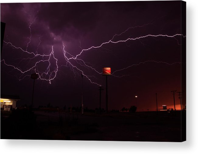 Lightning Acrylic Print featuring the photograph Quinter Lights by Scott Hammel