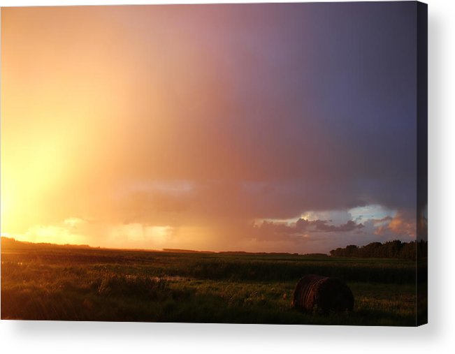 Rain Acrylic Print featuring the photograph Rainy June Sunset by Sabrina McKenzie