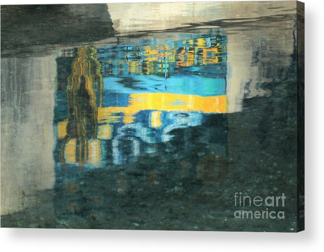 Water Reflection Print Acrylic Print featuring the photograph Color On Water by Joe Jake Pratt