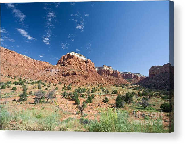 Abiquiu Acrylic Print featuring the photograph Red Sandstone Mesa by Jim Pruitt