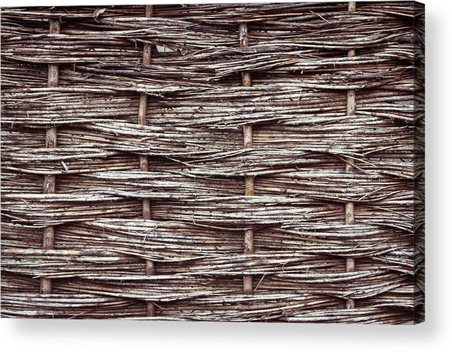 Architecture Acrylic Print featuring the photograph Reed Fence by Tom Gowanlock