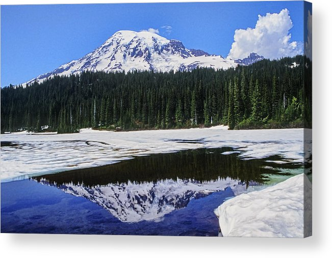 Mount Rainier Acrylic Print featuring the photograph Reflection by Kelley King