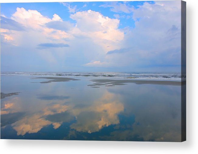 Fishing Pier Acrylic Print featuring the photograph Reflections by Don Mennig