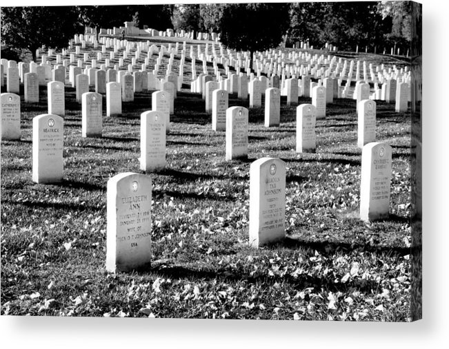 Arlington Cemetery Acrylic Print featuring the photograph Religion Never Dies by Greg Fortier
