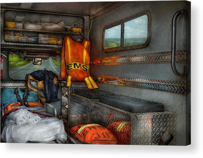 Rescue Acrylic Print featuring the photograph Rescue - Emergency Squad by Mike Savad