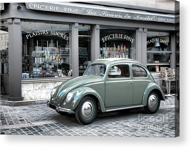 1950 Acrylic Print featuring the photograph Retro Beetle by Olivier Le Queinec