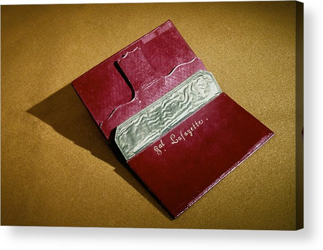 18th Century Acrylic Print featuring the photograph Rev War: Wallet by Granger