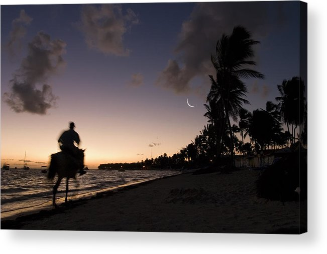 3scape Acrylic Print featuring the photograph Riding On The Beach by Adam Romanowicz