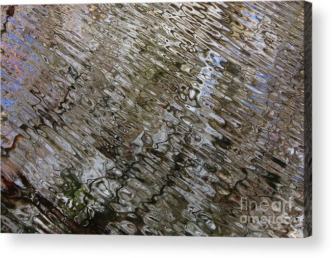 Nature Abstract Acrylic Print featuring the photograph Ripples In The Swamp by Carol Groenen