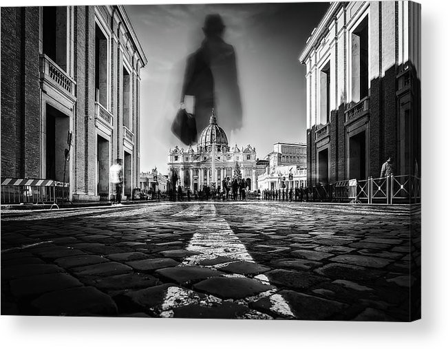 Rome Acrylic Print featuring the photograph Road To St.peter by Massimiliano Mancini