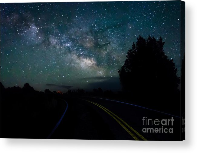 Capulin Acrylic Print featuring the photograph Road To The Stars by Ray K