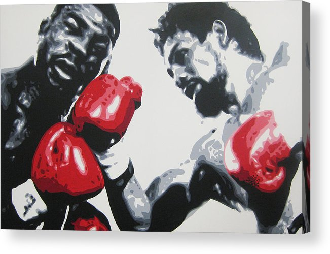 Roberto Duran Acrylic Print featuring the painting Roberto Duran 2 by Geo Thomson