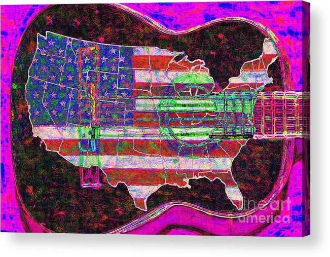 Music Acrylic Print featuring the photograph Rock And Roll America 20130123 Violet by Wingsdomain Art and Photography