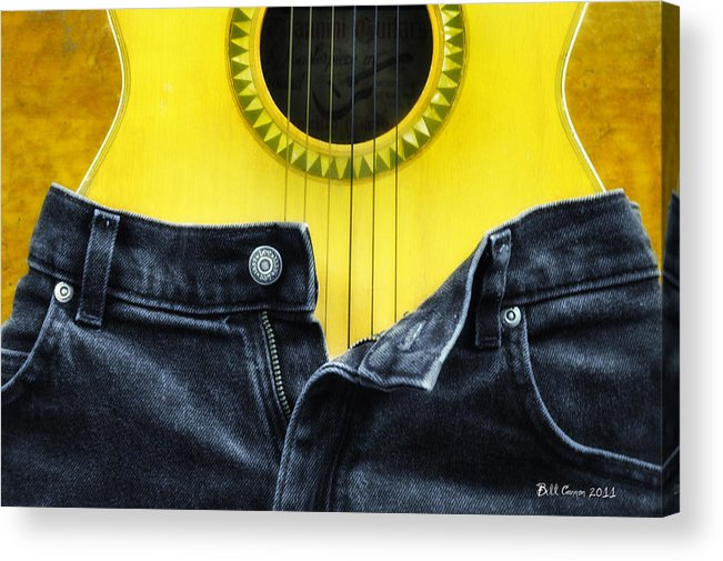 Guitar Acrylic Print featuring the photograph Rock And Roll Woman by Bill Cannon