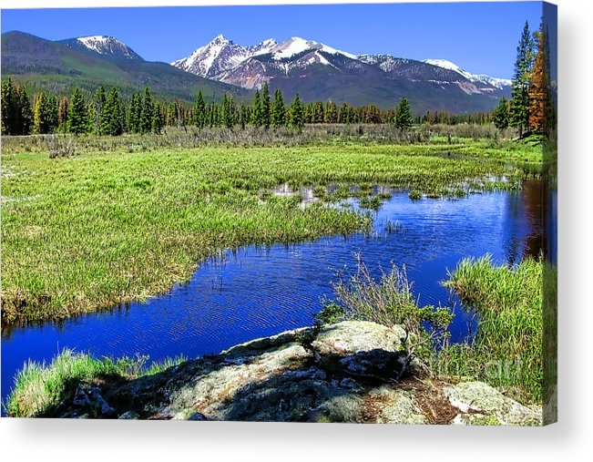 Colorado Acrylic Print featuring the photograph Rocky Mountains River by Olivier Le Queinec