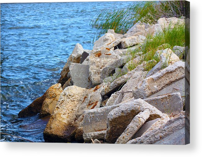 Rocks Acrylic Print featuring the photograph Rocky Waters by Brian Waits
