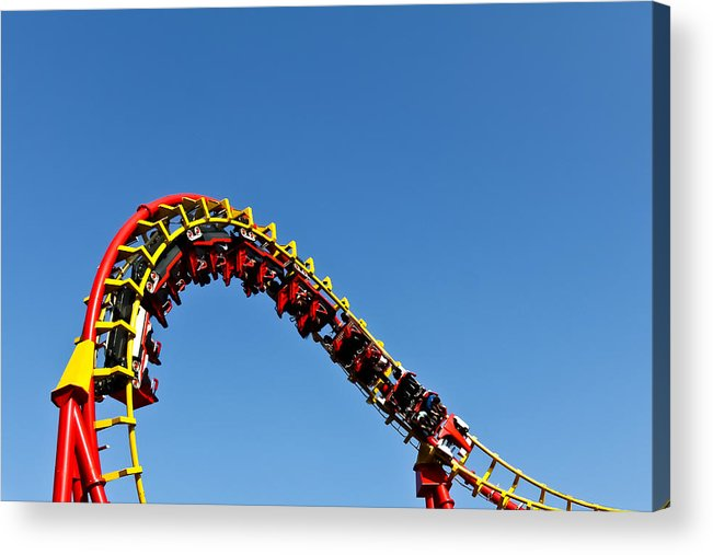 Amusement Acrylic Print featuring the photograph Roller Coaster Ride by Stephan Stockinger