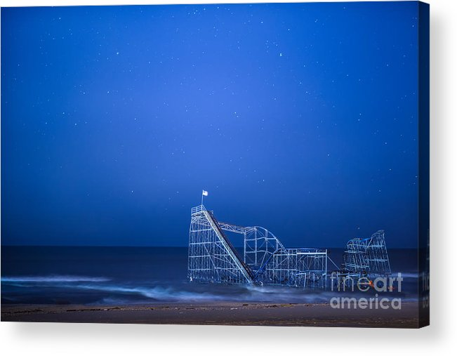 Starjet Acrylic Print featuring the photograph Roller Coaster Stars by Michael Ver Sprill