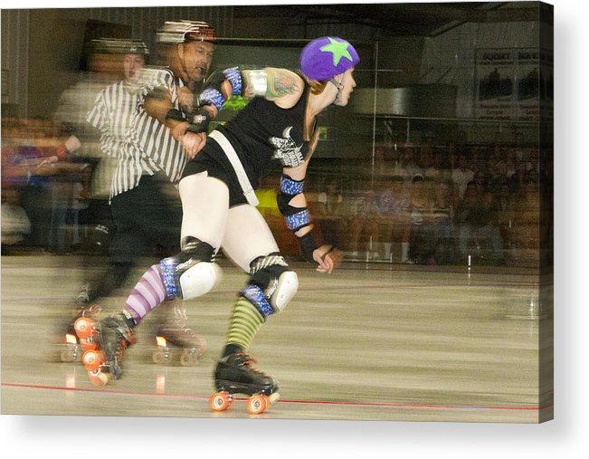 Gallatin Roller Girlz Acrylic Print featuring the photograph Roller Girlz 1 by Jason Standiford