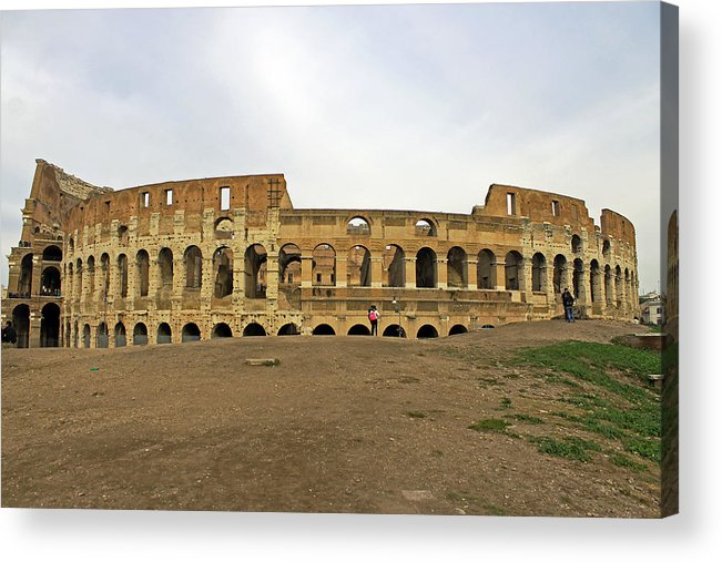 Roman Colosseum Acrylic Print featuring the photograph Roman Colosseum by Tony Murtagh