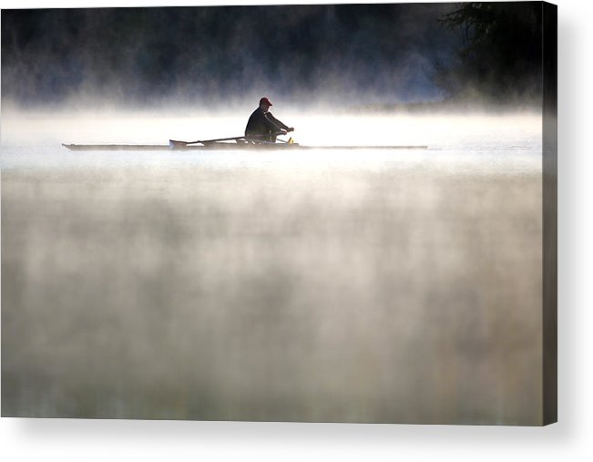 Rowing Acrylic Print featuring the photograph Rowing by Mitch Cat