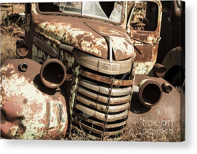 Rusty Acrylic Print featuring the photograph Rusted Pickup by Rob Hawkins
