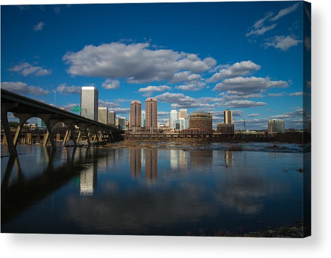 Rva Acrylic Print featuring the photograph Rva Cityscape by Stacy Abbott