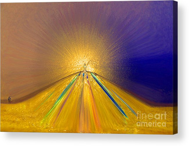 Abstract Art Acrylic Print featuring the photograph Sailing Into Paradise by Cindy Lee Longhini